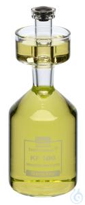 KF100/60 behrotest Karlsruher Flasche 100 ml, mit Stopfen Grifflänge Stopfen 60  behrotest...