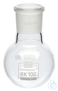 RK100 behrotest round bottom flask 100 ml NS 29 behrotest round bottom flask 100 ml NS 29