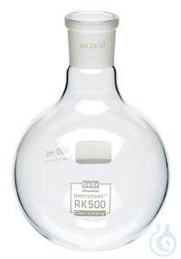 RK500 behrotest round bottom flask 500 ml neck NS 29 behrotest round bottom flask 500 ml neck NS 29