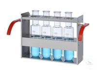 EG4/500 behrotest Einsatzgestell für 4x500 ml Gefäße im Inkjel  behrotest Einsatzgestell für...