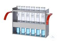 EG6 behrotest Einsatzgestell für 6x250 ml Gefäße im Inkjel  behrotest Einsatzgestell für 6x250 ml...