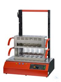 Inkjel1210M behrotest Aufschlussapparatur für 12x100 ml Gefäße manuell regelbar, behrotest...