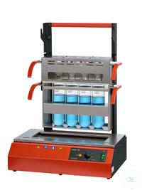 Inkjel475M behrotest Aufschlussapparatur für 4x750 ml Gefäße komplett arbeitsfäh behrotest...
