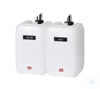 KAS20 behrotest reagent canister set with 2 canisters for H2O and NaOH with leve behrotest...