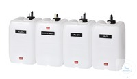 KAS40 behrotest reagent canister set with 4 canisters with level sensors case...
