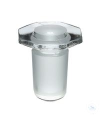 MST29 behrotest Glasstopfen massiv NS 29, mit abgerundetem Ende aus Borosilikatglas 3.3