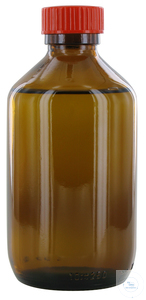 NB250GT behrotest sampling bottle 250 ml, brown glass, narrow neck with PTFE...