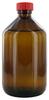 NB500GT behrotest Probennahmeflasche braun 500 ml, Enghals mit Verschluss und PT behrotest...