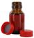 NB50GT behrotest Probennahmeflasche braun 50 ml, Enghals mit Verschluss und PTFE-Einlage