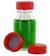 NK50GT behrotest Glasflasche glasklar 50 ml, Enghals mit Verschluss und Tefloneinlage