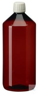 PEB1000 behroplast PET bottle, narrow neck, brown, 1000 ml, crack-on- opening...