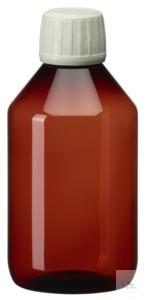 PEB250 behroplast PET bottle, narrow neck, brown, 250 ml, crack-on- opening...