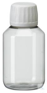 PEG100 behroplast PET bottle, narrow neck, clear transparent, 100 ml,...