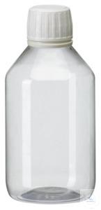PEG250 behroplast PET bottle, narrow neck, clear transparent, 250 ml,...