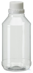 PEG500 behroplast PET bottle, narrow neck, clear transparent, 500 ml,...
