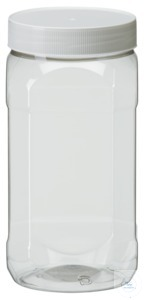 PWG1001 behrotest PET Bottle 1000 ml, wide-mouth, clear transparent,...
