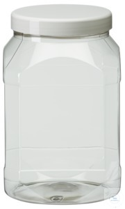 PWG2000 behroplast PET bottle, wide-mouth, clear transparent, 2000 ml with...