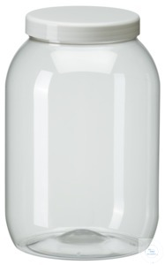 PWG3000 behroplast PET bottle, wide-mouth, clear transparent, 3000 ml with...