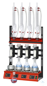 R104T-SK behrotest serial heating unit Twisselmann extraction, 4 working units w behrotest serial...