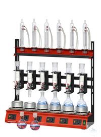 R106S-SK behrotest Reihenheizgerät für die Extraktion 100 ml (mit Hahn) für 6 Stellen...