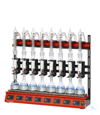 R108S behrotest serial heating unit for extraction 100 ml with 8 samples, extractor with stopcock