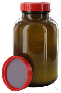 RB1000GT behrotest sampling bottle 1000 ml, brown glass, wide-mouth with PTFE...