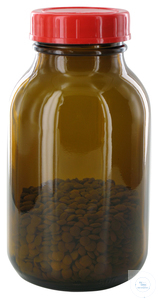 RB500GT behrotest sampling bottle 500 ml, brown glass, wide-mouth with PTFE...