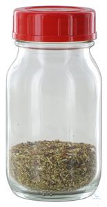 RK100GT behrotest Probenahmeflasche Klarglas, 100 ml mit PTFE-kaschiertem Versch