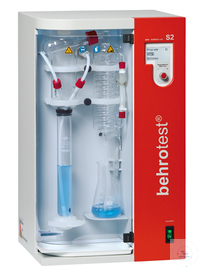 S2 behr steam distillation unit dispenses NaOH & H2O