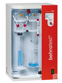 S3 behr steam distillation unit dispenses H2O, NaOH and sample waste draining...