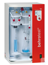 S4 behr steam distillation unit fully automatic, addition of H2O, NaOH, H3BO3 an behr steam...