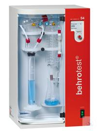 S4 behr Wasserdampfdestilliergerät vollautomatisch Zugabe von H2O, NaOH, H3BO3 u behr...
