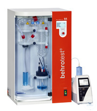 S5 behr steam distillation unit fully automatic addition of H2O,NaOH, H3BO3 & sa behr steam...