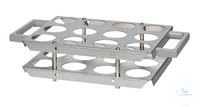 SG12B-HT behrotest vessel frame for 12 vessels for block with 24 holes...