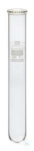 SR3i behrotest round bottom reaction vessel 250 ml, glass lip for Inkjel and K-h behrotest round...