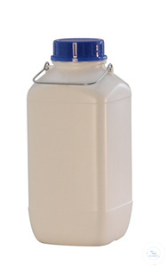 WB5 behroplast wide mouth canister 5 l, white with screw cap and carrying handle behroplast wide...