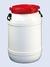 WF3 behroplast wide neck barrel 3.6 l, white with red screw lid behroplast wide neck barrel 3.6...