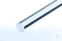 Quarzglasstab, Standardlänge 1000mm Quarzglasstab Länge 1000mm, Durchmesser 10mm