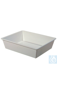 Laboratory trays, white ABS, dimension L x W x H : : 350 x 250 x 40 mm Laboratory trays, white...