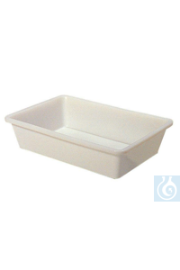 Photographic trays, volume 6 litre, HDPE white, dim. B 340 x D 240 x H 100 mm Photographic trays,...