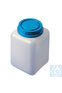 Screw cap jar 1000 ml, HDPE, tamper evident screw cap, 95 x 95 x H 135 mm Screw cap jar 1000 ml,...