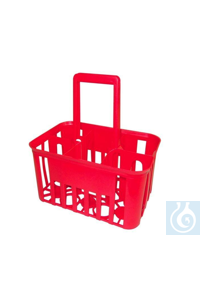 Bottle carrier for 4 bottles, red plastic Bottle carrier for 4 bottles, red plastic