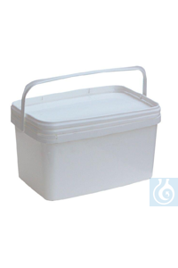 Rectangular bucket 5 L, tamper evident lid, PP, top Ø 286 x bottom Ø 198 x H 149 Rectangular...
