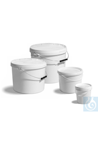 10Articles like: Bucket in PP, volume = 1.2 litre, Ø top x Ø bottom x H = 132 x 105 x 131...