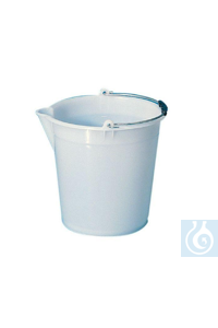 Heavy duty bucket in LDPE with graduation and spout, 17 L  Heavy duty bucket in LDPE with...