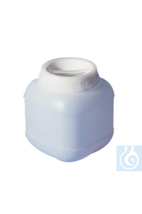 Big capacity jars 10000 ml, HDPE, tamper evident screw cap, 195 x 195 x H 400 mm