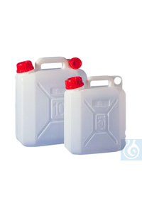 6Articles like: Jerrycan 5 litre, HDPE, L x W x H = 120 x 225 x 280 mm, mouth = 44 mm...