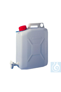 2Articles like: Jerrycans with stopcock 10 litre, HDPE, self sealing cap, 150 x 250 x H 360...