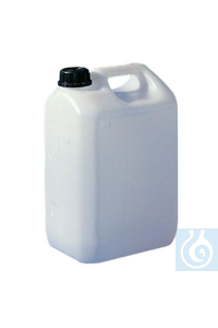 Economy jerrycan HDPE, 5 L, 130 x 175 x H 270, mouth 34 mm, colour: natural...