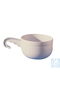 Large sampling cup with handle, volume = 3000 ml, Ø 200 mm x H 115 mm Large sampling cup with...
